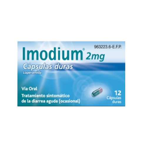 Imodium 2mg 12 cápsulas